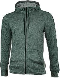 Reebok WOR Mel Graphic FZ Hooded Jacket Men's Crossfit Slim Speedwick Gray