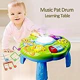 cosyhouse Mesa De Actividades De Aprendizaje Juguetes para Niños 2 En 1 Mesa De Aprendizaje Musical Centro De Actividades Juego Juguetes para Bebés Regalos De Cumpleaños para 1 2 3 Años Niños Niñas