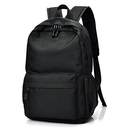Freizeit wasserdichte Sport Rucksack, Umwelt Nylon Notebook Computer Rucksack große Kapazität Reisen Reiten Rucksack Unisex Trend Schultasche ( Color : Black )