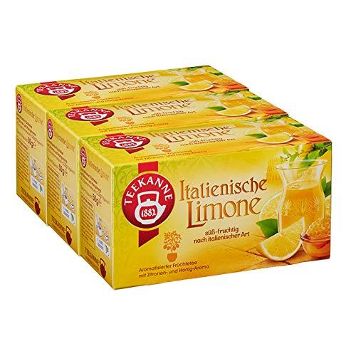 Teekanne Ländertee Italienische Limone - 3er Pack (3 x 50g)