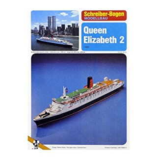 Aue-Verlag 73 x 8 x 14 cm Queen Elizabeth 2 Ship Model Kit