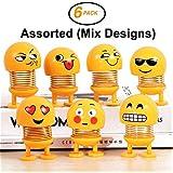 G.G Smiley Spring Doll Cute Emoji Bobble Head Dolls Emotion Figure Funny Smiley