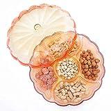 DROHE-Q Multifunktionale Obstteller Bunte Band Deckel Kunststoff Haushalt Wohnzimmer Sub-Grid Snack -33,3 cm * 13 cm