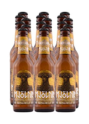 18 x Mjölnir Craft Beer - Nordic Lager Pils 0,33l - Wacken Brauerei - Craft-Beer Paket - Beer of the Gods - Thorshammer Pilsener Bier