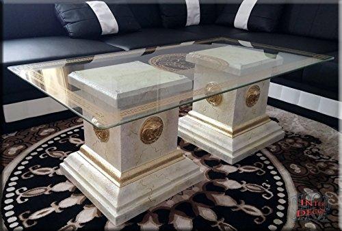 Designer-Couchtisch-Medusa-Marmor-Optik-Wohnzimmertisch-Tisch-Glastisch