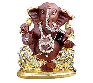 TIED RIBBONS Ganesha Idol (5.5x4.5 cm,Brown)