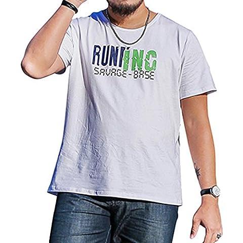 WALK-LEADER Herren T-Shirt, Figur Gr. XXX-Large, weiß