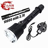 Small Sun ZY-T62 Super Bright XM-L T6 Rechargeable Tactical Flashlight Waterproof Portable Torch + 18650 + AC Charger