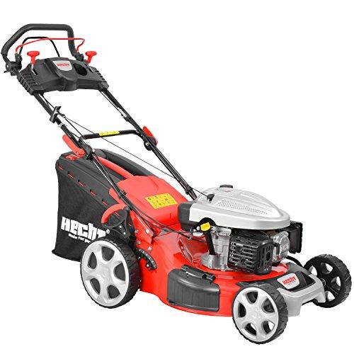 HECHT 5534 SX Benzin-Rasenmäher Benzin-Mäher 4,4 kW (6,0 PS), Schnittbreite 51 cm, 60 Liter Fangkorbvolumen