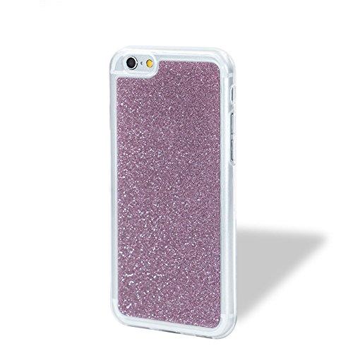 Für iPhone 6 Plus/6S Plus 5.5 Zoll Schrittweise Farbwechsel TPU Cover, Herzzer Bling Glitter Schutz Hülle mit Liebe Herzen Ring Halter, Luxus Sparkles Glänzend Glitzer Silikon Crystal Case Durchsichti Rosa