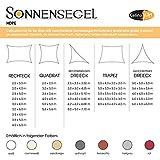Sonnensegel Sonnenschutz Garten | UV-Schutz wetterbeständig HDPE atmungsaktiv | CelinaSun 1000080 | Trapez 3 x 5,5 x 4 x 4 m anthrazit - 5
