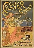 Pixiluv 2019Calendrier Mural [12Pages 20,3x 27,9cm] de vélo Vélo de Voyage Vintage ADS Poster