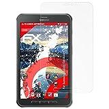 atFolix Panzerschutzfolie für Samsung Galaxy Tab Active 8.0 (SM-T365) Panzerfolie - 2 x FX-Shock-Antireflex blendfreie stoßabsorbierende Displayschutzfolie