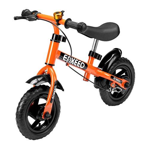ENKEEO Bicicleta sin Pedales Equilibrio para Niños Infantiles con Timbre y Freno, Altura Ajustable...