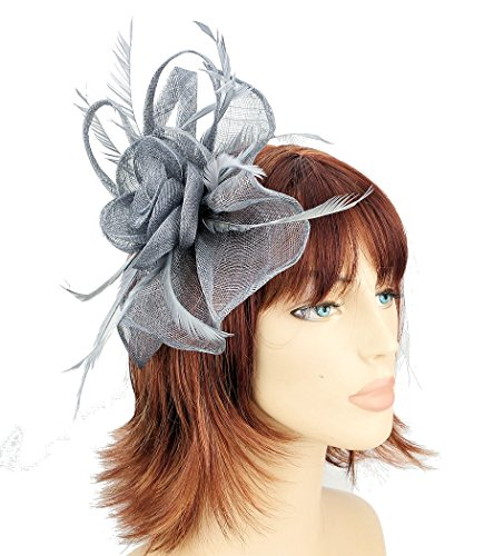 grey-sinamay-flower-fan-hair-fascinator-with-goose-biot-feathers-sprung-clip