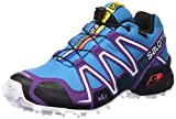 Salomon Damen Speedcross 3 GTX Traillaufschuhe, Blau (Scuba Blue/Cosmic Purple/Black), 40 2/3 EU