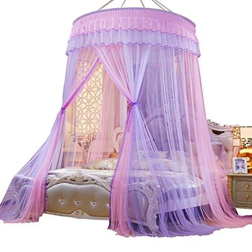 La vogue Rund Moskitonetz Bett Mückennetz Fliegennetz Moskitonetz Baldachin Doppelbett Lila