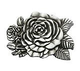 Gürtelschnalle Western Rose Cowboy Blume 3D Optik für Wechselgürtel Gürtel Schnalle Buckle Modell 168 - Schnalle123