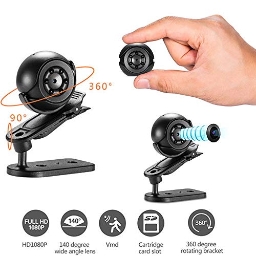 Camera HD 1080P Security Nanny Cam Portable Video Recorder mit Night Vision, Motion Detection und Loop Recording für Home Car ()
