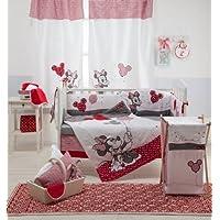 Baby Bedding Design Disney rouge Minnie Mouse Souris 5pièces Parure de Berceau