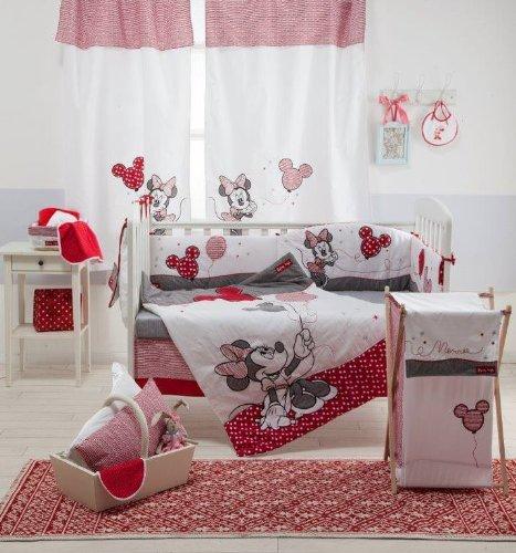 Baby Bedding Design Disney Red Minnie Mouse 4-teiliges Bettwäsche Set für Wiege