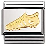 Nomination Composable Classic Sport Football Stainless Steel and 18K Gold
