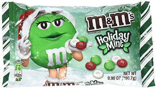 Bag of mint chocolate M & M 's Christmas/Holiday Candy
