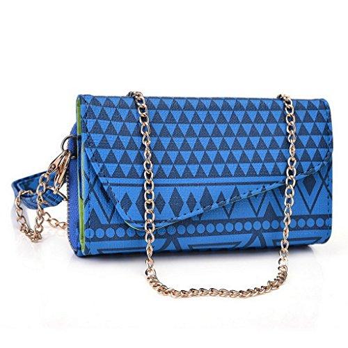 Kroo Pochette/Tribal Urban Style Téléphone Coque pour Asus ZenFone 2ze551ml/5/5Noir Multicolore - Rose Multicolore - bleu marine