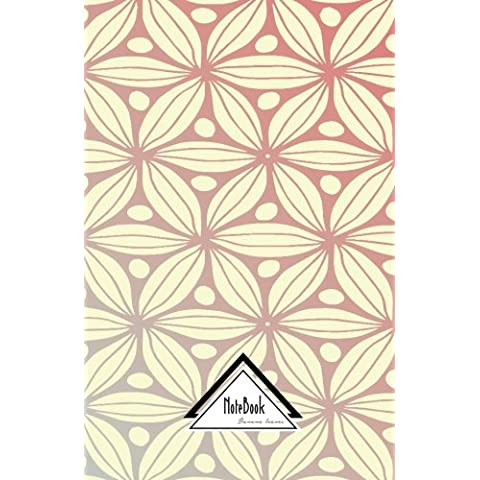 Notebook Journal Dot-Grid,Graph,Lined,No lined : Glam Glow Metallic Rose Floral Geometric Pattern: Small Pocket Notebook Journal Diary, 120 pages, 5.5