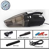 Q&F Portable voiture pompe à air pour pneus 12v Aspirateur voiture Pompe électrique avec câble d'alimentation avec lumière led d'urgence -C