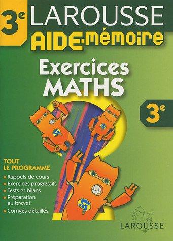 Aide-Mémoire : Exercices de maths, 3ème