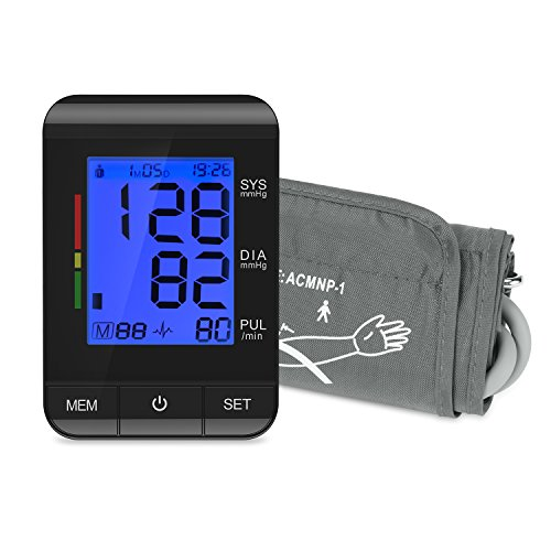 Vollautomatisch Blutdruckmessgerät Kompakte Größe, Einfache Handhabung Ultra-Dünn Oberarm-Blutdruck-Monitor Mit LCD-Digital-Anzeige Unregelmäßiger Herzschlag Indikator