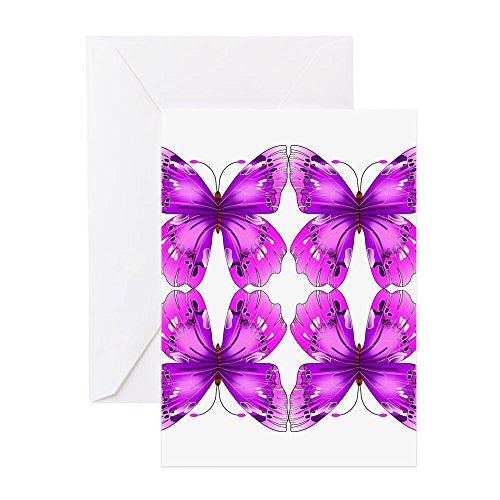 CafePress-verspiegelt Bewusstsein Schmetterlinge Grußkarten-Grußkarte, Note Karte, Geburtstagskarte, innen blanko, matt