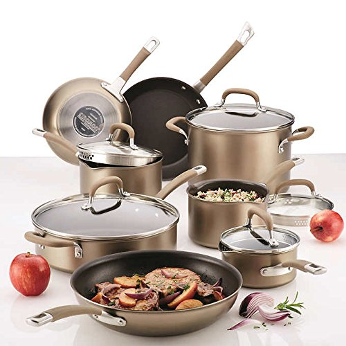 Circulon Premier Professional Hard Anodized 13 Piece Non Stick Cookware Set BRONZE