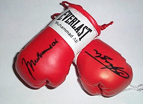 Les Frazier - Autographed Mini boxing Gloves Muhammad Ali v