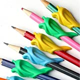 Pencil Grip Dolphin Style Original Universal Ergonomic Writing Aid for Righties - 10 Pcs (type 1)