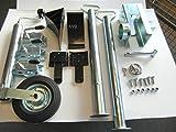 AVB Komplettpaket f. PKW Anhänger Stützen600 mm , Premiumschloß, Stützrad & Adapter 13 - 7 Keile schwarz