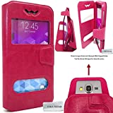 Custodia Compatibile con ALCATEL One Touch Pop C7 - Protettiva Cover e View Finestra - Rosa - CEKATECH Protezione Universale di qualità