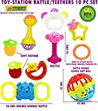 #10: Toy-Station - 2 in 1 Light and Sound Funny Hammer with Squeaky Sound-Pack of 2 (Toy-Station 10 PC Rattle/TEETHER Set - Non-Toxic)