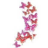 1 Set 12pcs 3D Schmetterlinge Wandaufkleber Einfach Mehrfarbig Wanddeko Aufkleber Abziehbilder Dekorationen Wand-Glas-Kühlschrank-Deko für Wohnung Schlafzimmer Raumdekoration Hochzeit Kinderzimmer