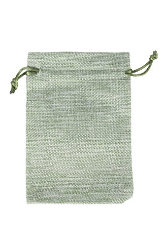 Jute Bag | Jute Potli | Jute Pouch| Green Color , Drawstring bags for Packing GiveAways, Gift Packing for Wedding Functions Parties and More  available at amazon for Rs.380