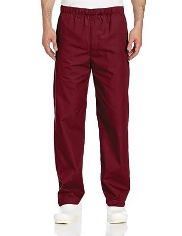 Landau Men's Elastic Drawstring Scrub Pant - Red -