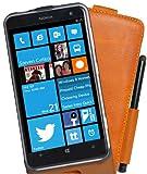 Perfect Case exklusive Flip Echtleder Tasche mit Stifthalterung für Nokia Lumia 625 braun