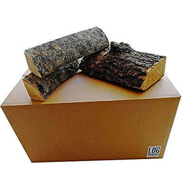54 Litre Box of Kiln Dried Ash Logs-25cm Length, Best Firewood Logs, Longer Burn Time - Perfect for Cooking Meats, Camp Fires, Stoves & Open Fireplaces