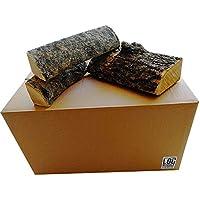 Caja de 54 litros de madera de fresno seca, 25 cm de longitud, mejor leña, más tiempo de combustión – perfecto para cocinar carnes, chimeneas de campamento, estufas y chimeneas abiertas.