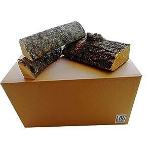 54 litros de ceniza caja de cenizas secado al horno troncos-25 cm de largo, mejores troncos de troncos, 18% de humedad…
