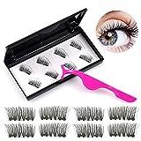 Kapmore 8PCS Fake Eyelash Decorative Magnetic Eyelash False Eyelash with Case & Tweezer
