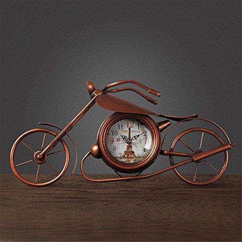 AIZIJI Creative Uhr Euro-Stil Schlafzimmer Wohnzimmer Schreibtisch Uhr Hof Glocken ruhigen Uhr / 53x26cm (Euro-stil Schreibtisch)