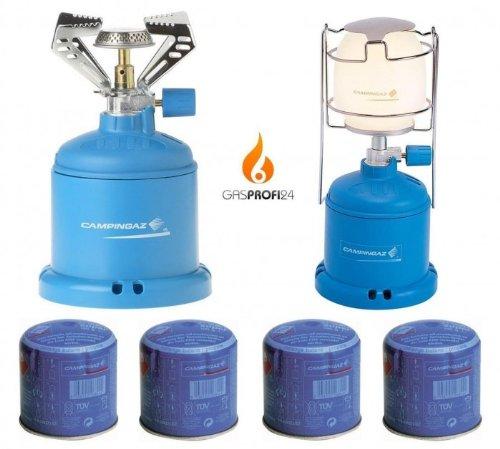 Gaskocher Campingkocher + Gaslampe Campinglampe SPARSET