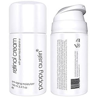 Retinol Cream for Day & Night by Poppy Austin® - TRIPLED SIZED 100ml - Cruelty-Free, 2.5% Retinol, Vitamin E, Green Tea & Shea Butter - Anti Ageing Face Moisturiser & 2018 Best Wrinkle Cream
